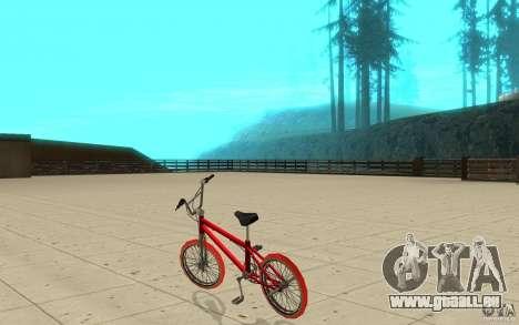 Zeros BMX RED tires pour GTA San Andreas sur la vue arrière gauche