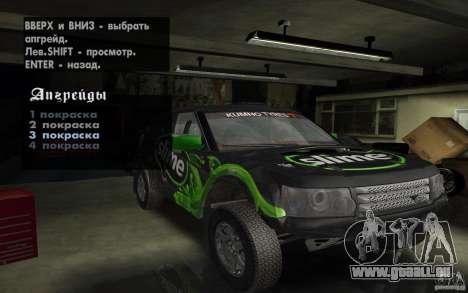 Bowler Nemesis pour GTA San Andreas vue intérieure