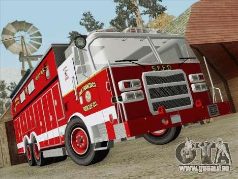 Pierce Walk-in SFFD Heavy Rescue für GTA San Andreas Unteransicht