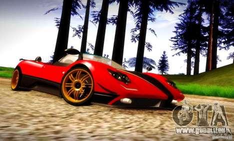 Pagani Zonda Tricolore V2 pour GTA San Andreas vue intérieure