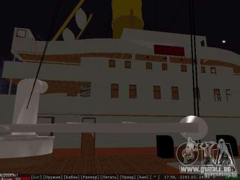 HMHS Britannic für GTA San Andreas zurück linke Ansicht