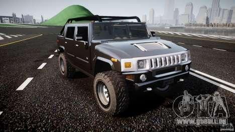 Hummer H2 4x4 OffRoad v.2.0 für GTA 4 Rückansicht