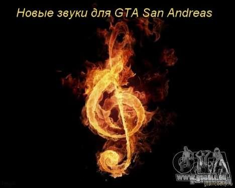 Nouveaux sons de tirs, des explosions, des babio pour GTA San Andreas