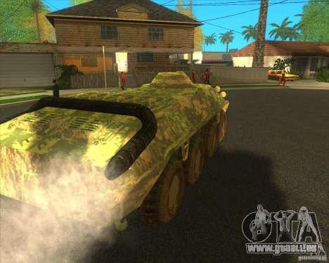BTR-80 électronique camouflage pour GTA San Andreas sur la vue arrière gauche