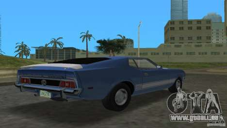 Ford Mustang 1973 für GTA Vice City linke Ansicht