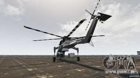 SkyLift Helicopter für GTA 4 hinten links Ansicht