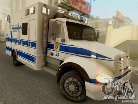 Freightliner Bone County Police Fire Medical für GTA San Andreas Rückansicht