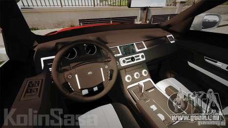 Range Rover Evoque für GTA 4 Rückansicht