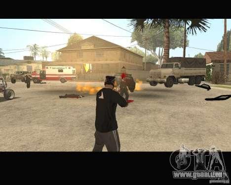 Sangue na tela v2 pour GTA San Andreas quatrième écran