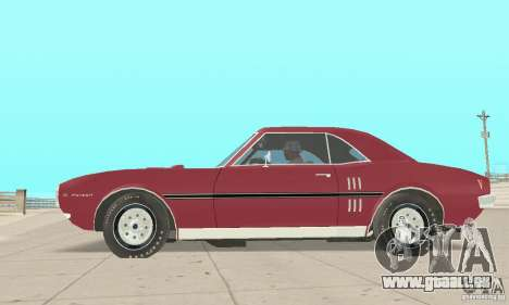 Pontiac Firebird 1968 für GTA San Andreas zurück linke Ansicht