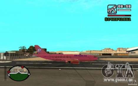 Airbus A-310 S7 SanFierroAir pour GTA San Andreas vue de droite
