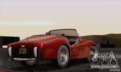 Triumph TR3B 1962 pour GTA San Andreas vue intérieure