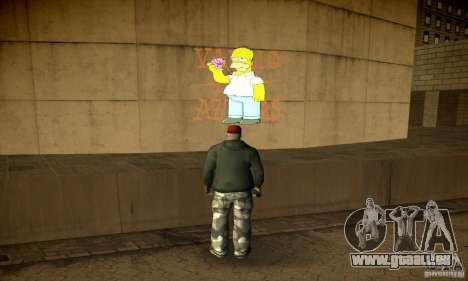 Simpson Graffiti Pack v2 für GTA San Andreas sechsten Screenshot
