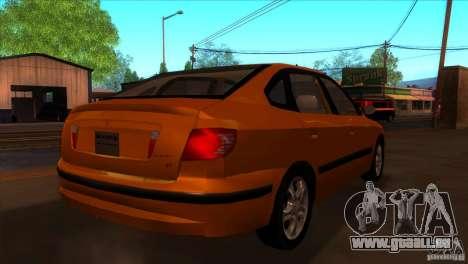 Hyundai Elantra pour GTA San Andreas vue de droite