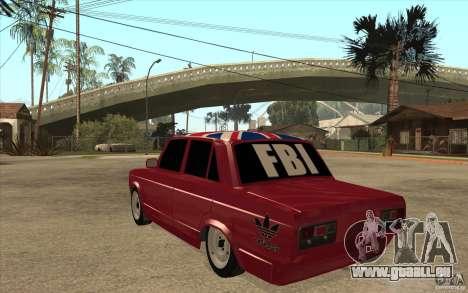 VAZ 2107 Hobo v. 2 für GTA San Andreas zurück linke Ansicht