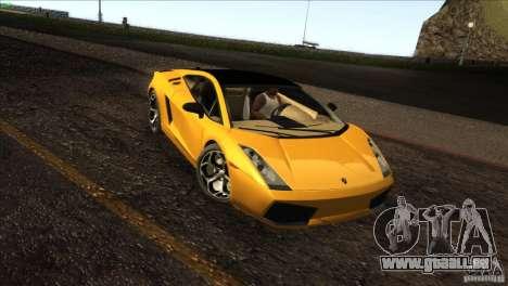 Lamborghini Gallardo SE pour GTA San Andreas laissé vue