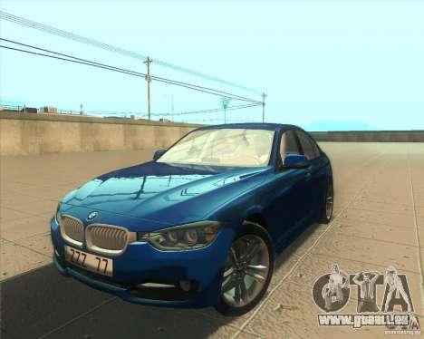 BMW 3 Series F30 2012 pour GTA San Andreas salon