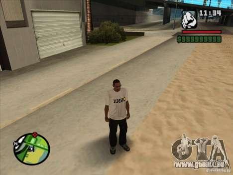 T-Shirt Filme für GTA San Andreas dritten Screenshot