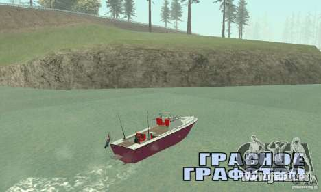 Sports Fishing Boat für GTA San Andreas linke Ansicht