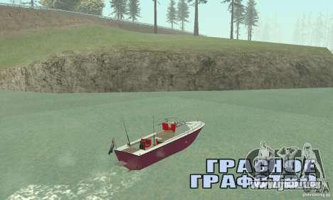 Sports Fishing Boat pour GTA San Andreas laissé vue