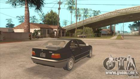 BMW 316i E36 für GTA San Andreas zurück linke Ansicht