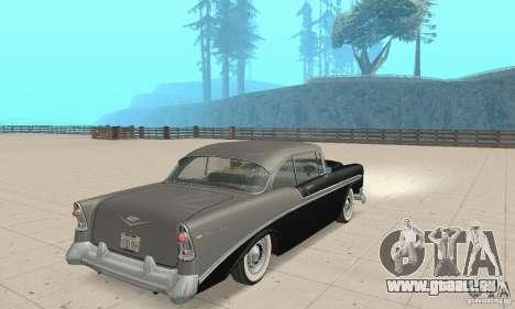 Chevrolet Bel Air 1956 pour GTA San Andreas laissé vue