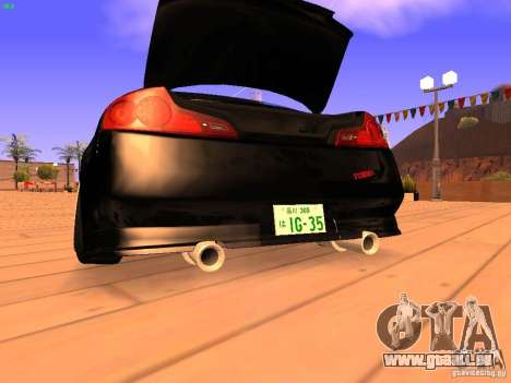 Infiniti G35 V.I.P pour GTA San Andreas vue de dessous