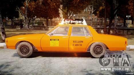 Chevrolet Impala Taxi v2.0 pour GTA 4 Vue arrière de la gauche