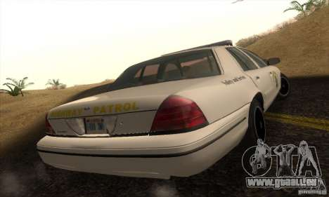 Ford Crown Victoria California Police für GTA San Andreas linke Ansicht