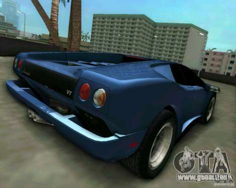 Lamborghini Diablo für GTA Vice City linke Ansicht