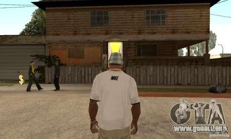 White Nike Shirt pour GTA San Andreas deuxième écran