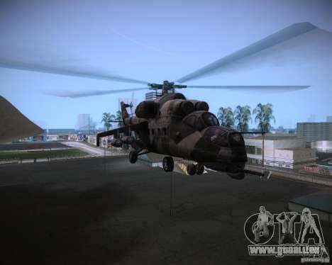 Mi-35 pour une vue GTA Vice City de l'intérieur