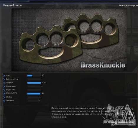 [Point Blank] Brass Knuckles pour GTA San Andreas deuxième écran