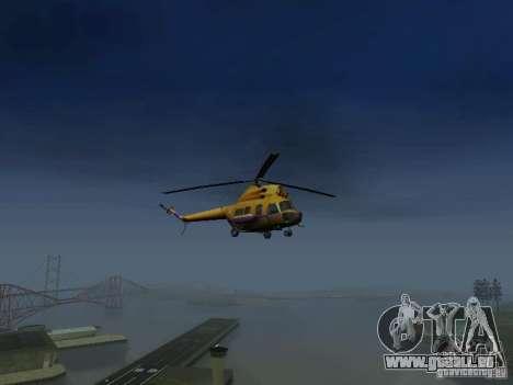 Mil Mi-2 Polizei für GTA San Andreas rechten Ansicht