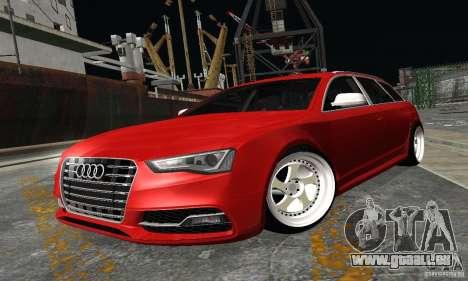 Audi A6 Avant Stanced für GTA San Andreas zurück linke Ansicht