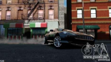 Aston Martin Virage 2012 v1.0 pour GTA 4 est une vue de l'intérieur