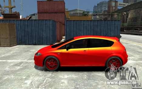 Seat Leon Cupra Light Tuning für GTA 4 linke Ansicht