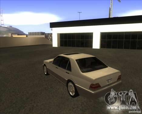 Mercedes Benz 400 SE W140 pour GTA San Andreas vue de droite