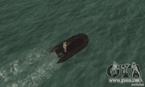 Bateau de Cod mw 2 pour GTA San Andreas vue arrière