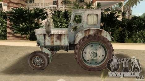 Tracteur t-40 pour une vue GTA Vice City de l'intérieur