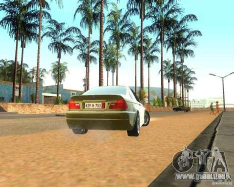 BMW 318i E46 2003 pour GTA San Andreas vue de droite