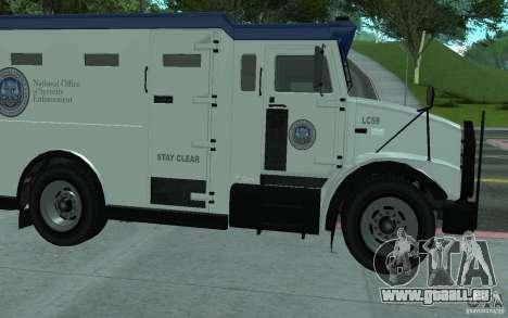Securicar de GTA IV pour GTA San Andreas vue de côté