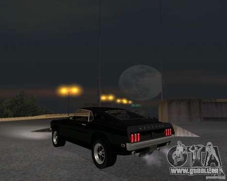 Ford Mustang Boss 1969 für GTA San Andreas rechten Ansicht