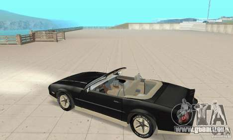 Chevrolet Camaro RS 1991 Convertible pour GTA San Andreas vue arrière