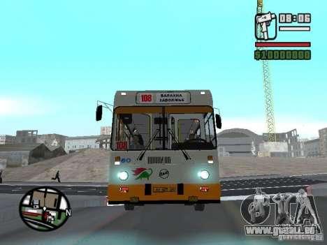 LIAZ 5283.70 pour GTA San Andreas sur la vue arrière gauche