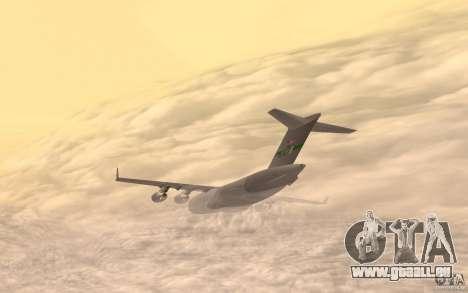 C-17 Globemaster III pour GTA San Andreas laissé vue