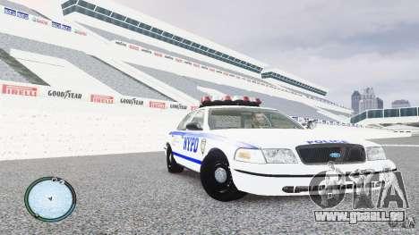 Ford Crown Victoria 2003 NYPD für GTA 4 Rückansicht