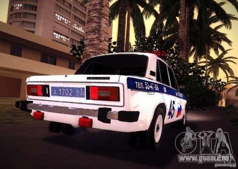 VAZ 2106 Polizei V 2.0 für GTA San Andreas zurück linke Ansicht