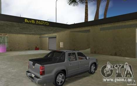 Chevrolet Avalanche 2007 für GTA Vice City rechten Ansicht