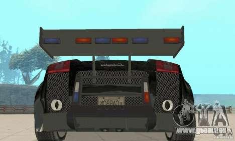 Lamborghini Gallardo Cop V1.0 pour GTA San Andreas vue arrière